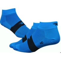 "Defeet Aireator 1"" Team Socks - Process Blue/Black Stripe"