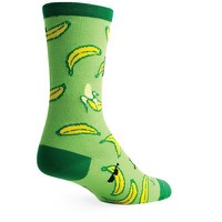 SockGuy Appealing Crew Socks - Green/Yellow