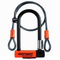 "Kryptonite Evo Mini-7 U-Lock w/Cable - 3.25"" x 7"""