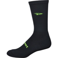 Defeet D-Evo D-Logo Crew Socks - Black/Yellow