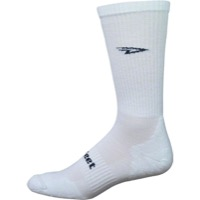 Defeet D-Evo D-Logo Crew Socks - White/Black