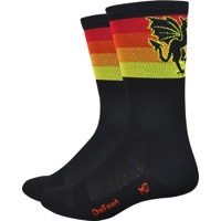 "DeFeet Aireator 6"" Mad Alchemy Socks - Fall Stripe"