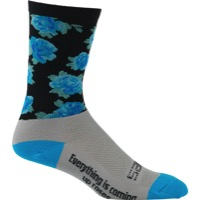 "DeFeet Aireator 6"" SaKO7 Socks - Blue Roses"
