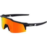 100% Speedcraft SL Sunglasses - Soft Tact Black/HD Red Multilayer Mirror Lens
