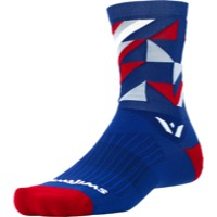 Swiftwick Vision Five Socks - Geo Navy/Red/Gray