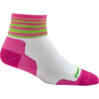 Darn Tough 1/4 Ultra-Light Women's Socks - Stripe White