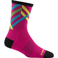 Darn Tough Micro Crew Ultra-Light Women's Socks - Graphic Stripe Pink