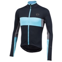 Pearl Izumi ELITE Escape Thermal LS Jersey 2017 - Black/Blue Mist