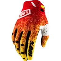 100% Ridefit Gloves 2018 - Red/Yellow