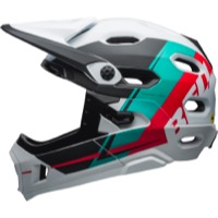Bell Super DH MIPS Helmet 2018 - Matte White Emerald/Hibiscus Recourse