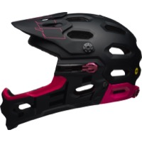 Bell Super 3R MIPS Helmet 2018 - Matte/Gloss Black/Cherry