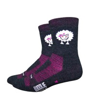 "DeFeet Woolie Boolie 4"" Baaad Sheep Socks - Charcoal"