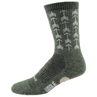 "DeFeet Woolie Boolie 6"" Arrows Socks - Loden Green"