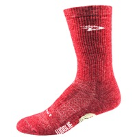 "DeFeet Woolie Boolie 6"" D-Logo Socks - Heather Red"