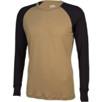 Surly Men's Long Sleeve Raglan Shirt - Two Tone Tan/Black