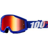 100% Strata Goggles - Nation/Mirror Blue Lens