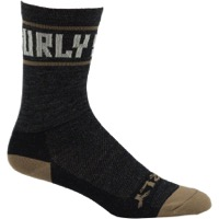 "Surly Sports Logo 5"" Wool Socks - Black/Cream"