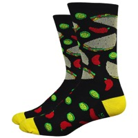 "DeFeet Aireator 6"" Taco Tuesday Socks - Black"