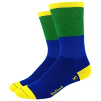 "DeFeet Aireator 6"" Blockhead Socks - Blue/Green"