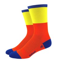 "DeFeet Aireator 6"" Blockhead Socks - Orange/Yellow"