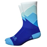 "DeFeet Aireator 6"" Alpine Socks - Blue/White"