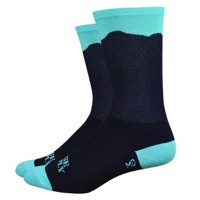 "DeFeet Aireator 6"" Double Gap Socks - Black/Blue"