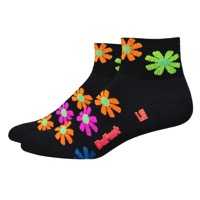 "DeFeet Aireator 2"" Flower Power Womens Socks - Black"
