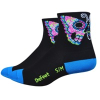 "DeFeet Aireator 3"" Sugarfly Womens Socks - Black/Blue"