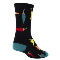 SockGuy Peppers Crew Socks - Black
