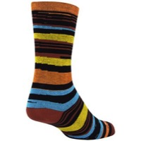 SockGuy Sedona Crew Socks - Black/Orange/Blue
