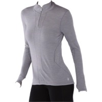 Smartwool PhD Light Zip Women's Long Sleeve Top - Light Gray