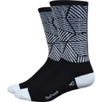 "DeFeet Aireator 6"" Craze Socks - Black/White"
