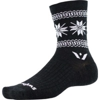 Swiftwick Vision Five Winter Collection Socks - Coal/White