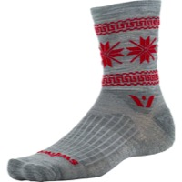 Swiftwick Vision Five Winter Collection Socks - Heather Red