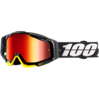 100% RaceCraft Goggles - Fortis/Mirror Red Lens