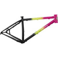 All-City Electric Queen Frame - Green/Pink/Black and Splatter