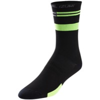 Pearl Izumi Elite Tall Socks 2018 - Black/Screaming Green