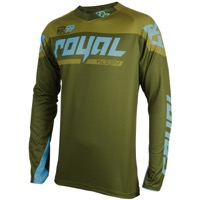 Royal Victory Race LS Jersey - Olive/Light Blue