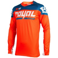 Royal Victory Race LS Jersey - Orange/Diesel