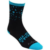 All-City Electric Boogaloo Wool Socks - Black/Blue