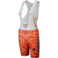 Salsa Team Kit Women's Bib Shorts 2018 - Orange Zebra