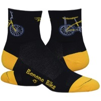 "DeFeet Aireator 3"" Banana Bike Socks - Black/Yellow"
