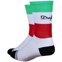 "DeFeet Aireator 5"" Italia Socks - Green/White/Red"