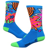 "DeFeet Aireator 6"" Shazam Socks - Blue/Pink/Orange/Green"