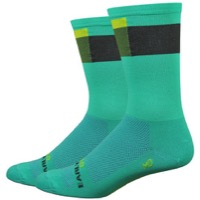 "DeFeet Aireator 6"" Ornot District Socks - Green/Black/Yellow"