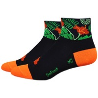 "DeFeet AirEator 2"" Rain Forest Womens Socks - Black/Green"