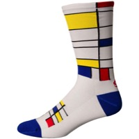 "Save Our Soles 7"" Floating Squares Socks - White"
