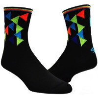 "Save Our Soles 5"" Geo Socks - Black"