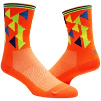 "Save Our Soles 5"" Geo Socks - Neon Orange"