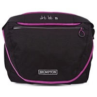 Brompton C Bag Front Messenger Bag - Black/Berry Crush